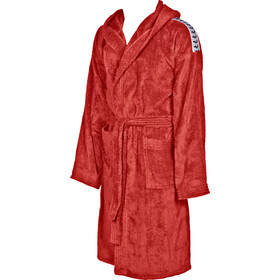 arena Core Soft Bathrobe red white